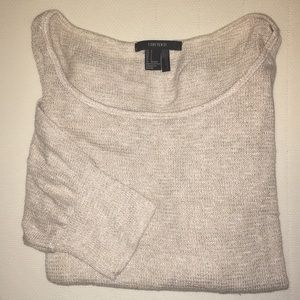 Nude sweater with gold sparkles